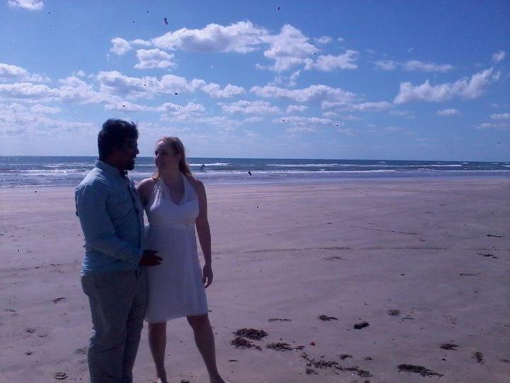 Don married Sydney on the beach in Port Aransas