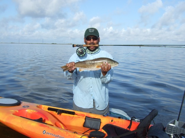 Redfish caught on fly by Don Alcala
