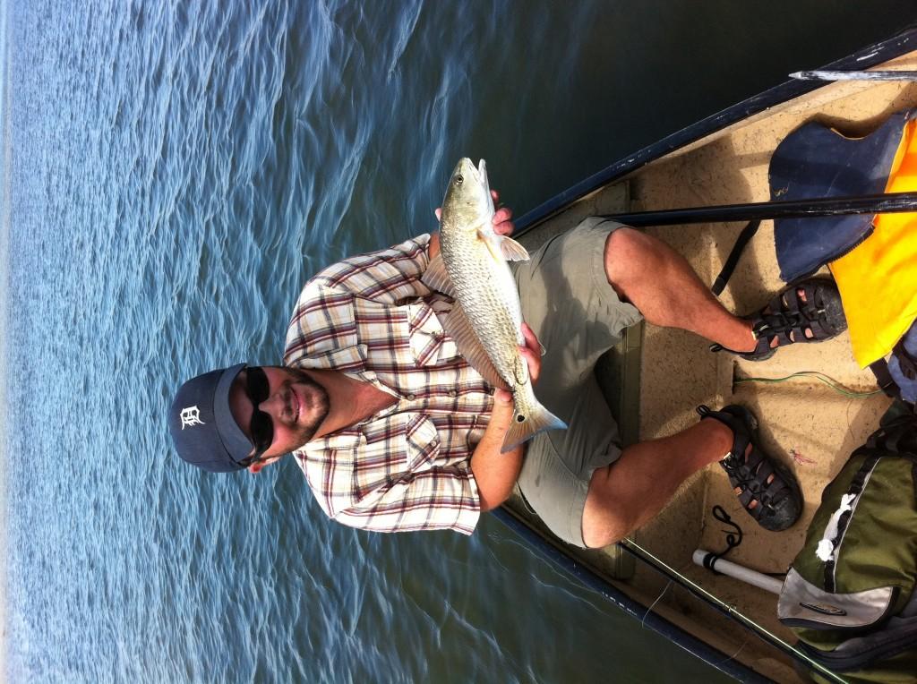 Redfish kayak fishing Corpus Christi